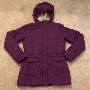 Lands End Girls Winter Parka Purple EUC Size 14